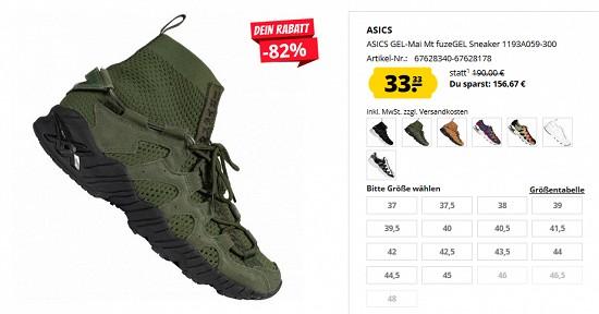 Asics Gel Mai fuzeGEL Sneaker für 33,33€ 82% gespart
